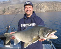 Huge lake trout caught in the Okanagan