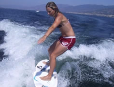 Wakesurfing on Okanagan Lake